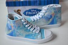 NEW Disney Frozen Elsa women's shoes Light Blue High Top sz 5 6 7