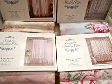 Simply Shabby Chic Window Panel Pink Damask or Floral Voile Roses White/Lavender