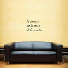 Kitchen is the heart of the home french wall art inspirational quote
