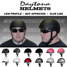 Half Helmets | Motorcycle Half Helmet | Skull Cap | LOW PROFILE | by Daytona