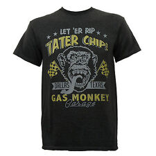 Authentic GAS MONKEY GARAGE Dallas Texas Tater Chip Slim Fit T-Shirt S-2XL NEW