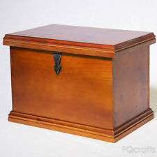 Secure Wooden File Box - Enclosed Lid - Store Files and Documents