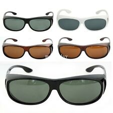 New Mens Womens Polarized Sunglasses Fit Over Wrap Driving Glasses