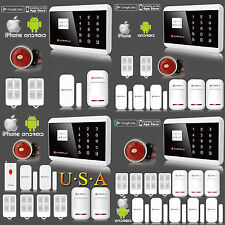 USA APP Remote Control Wireless & Wired GSM PSTN Home House Fire Alarm System