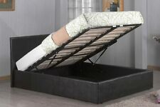 Storage Ottoman Bed Gas Lift Up Double King Size Black/Brown/Cream Faux Leather