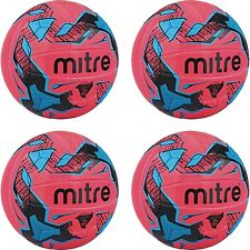 4 x MITRE MALMO+ FOOTBALLS - ASTRO/GRASS - PINK - Sizes 3 - 4 - 5