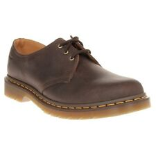 New Mens Dr. Martens Brown 1461 Leather Shoes Lace Up