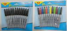 120pc Fine Point Black or Colored Permanent Markers f School Office Crafts