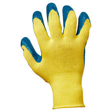 BULK BUY! Rubber Latex Palm Coated Cut Resistant Safety Gloves Pack of 12 Pairs