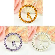 I Love You Time Amethyst Citrine .Silver Plated Pendants Necklaces