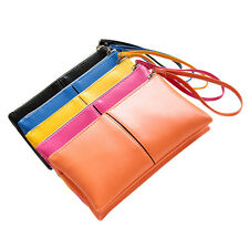 2015 NEW Women Leather Long Bifold Purse Zipper Clutch Handbag Wallet Card Bag