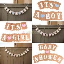Nice Baby Shower Party Banner, It's A Boy / It's A Girl Vintage Banners US DE