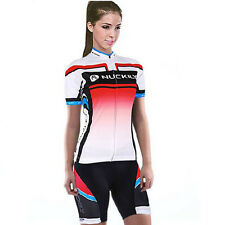 Women Cycling Jersey Short Sleeve Bike Bicycle Top Shorts set Outdoor Sportswear