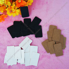 100x 3 options rectangle hang tag label wedding party favor gift price card note