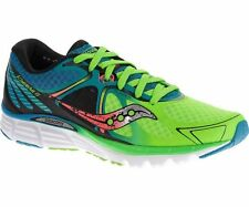 Mens Saucony Kinvara 6 Blue/Slime/Coral Running Shoe Sneakers Size 7-15 S20282-3