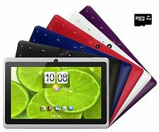 "Tablet PC 7"" Screen Quad Core 8GB MicroSD Bundle Android 4.4 KitKat Dual Camera"