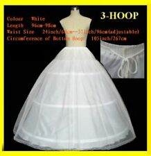 new white 2 layers 3 Hoop A Line Ball gown wedding bridal petticoat crinoline
