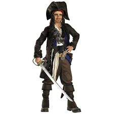Captain Jack Sparrow Costume Kids Deluxe Pirates of the Caribbean Fancy Dress