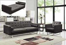 86.6'' Length Sofa Bed Couch Sleeper Modern Fabric Sofa and Chair Set-3 Colors