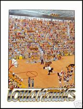 Iowa Basketball Poster Vintage NCAA Hawkeyes poster college