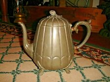Antique Thomas Otley & Sons Ribbed Metal Teapot-Sheffield-Marked 5046-LQQK