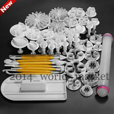 New Multiple Styles Fondant Cake Decorating Icing Plunger Cutter Party Tools #T