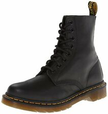 NEW GENUINE DR MARTENS WOMENS PASCAL VIRGINIA BLACK SOFT LEATHER 8 eye BOOTS