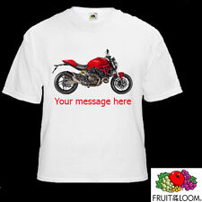 TShirt with a picture of a Ducati Monster. Free personalised Message! FREE P & P