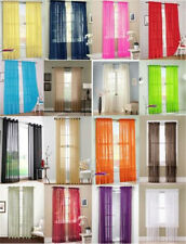Colorful Floral Tulle Scarf Valances Door Window Voile Curtain Drape Panel Sheer
