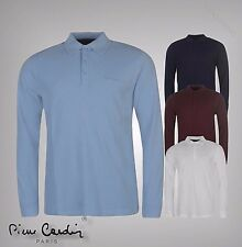 New Mens Branded Donnay Stripe Polo Shirt Rugby Long Sleeves Top Size S-XXL