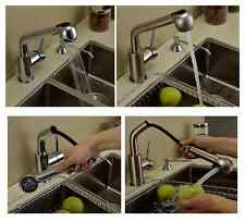 Bathroom Brass Kitchen sink Faucet hot cold Water Washing Pull out Mixer Tap 011