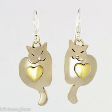 Far Fetched - Sweet Dreams Kitty Cat - EARRINGS Alpaca Silver Dangle Mima & Oly