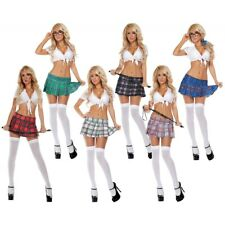 Mini Skirt Sexy Plaid Skirt Adult Womens School Girl Outfit Costume Fancy Dress