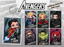 Avengers Keychain Double-Sided Anime Chibi Art Super Heroes