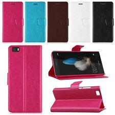 WALLET Leather Flip Case Cover Pouch Saver For Mobile Phone Huawei P8 / P8 Lite