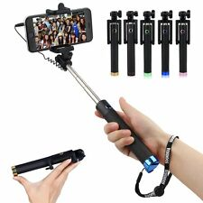 Selfie Stick Clip Phone Holder Extendable Handheld Self Monopod Wired Remote New