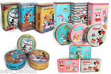 Vintage Retro Minnie Mickey Mouse Kitchen Canister Storage Cookie Tins Box
