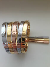 Stainless Steel 316L Screw Head Love Bangle Bracelet
