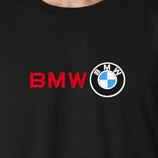 BMW M-Series Logo & Full Front BMW Word Embroidered Auto Car Motor T-Shirt