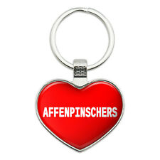 Metal Keychain Key Chain Ring I Love Heart Dogs A-C