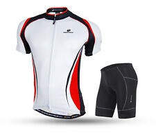 Red Cycling Bike Short Sleeve Clothing Bicycle Sportwear Suit Jersey+Shorts sets