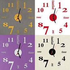 Mini Modern DIY Wall Clock 3D Sticker Design Home Office Room Decor