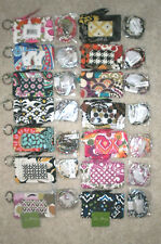 VERA BRADLEY ZIP ID CASE & LANYARD SET U-PICK COLOR/PATTERN ID BADGE KEY NWT NEW