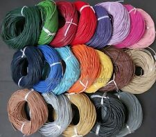 Hot 3M/5M/10M Real Leather Necklace Rope String Cord Findings 1/1.5/2/2.5/3 mm