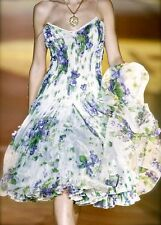$9900!! NEW Roberto Cavalli RUNWAY Dress Floral Purple Green Rare 40