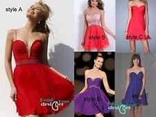 Short Mini Bridesmaid Dress Formal Cocktail Party Prom Dresses Evening Ball Gown