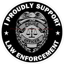 I Proudly Support Law Enforcement Reflective Decal Sticker Police Sheriff Deputy
