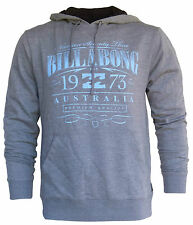 BILLABONG New Mens Hoodie Fleece Jumper Hoody Pullover Size (S) Small Grey