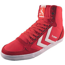 Hummel Womens Girls Slimmer Stadil High Retro Canvas Hi Top Trainers *AUTHENTIC*