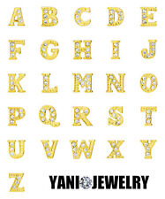 A - Z Crystal Alphabet Floating Charms For Living Memory Locket Necklace Pendant